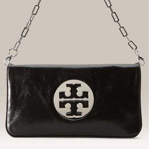NWOT Tory Burch Reva large logo flap clutch